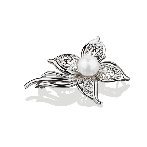 Newbridge Silverware Grace Kelly Collection Pearl Brooch